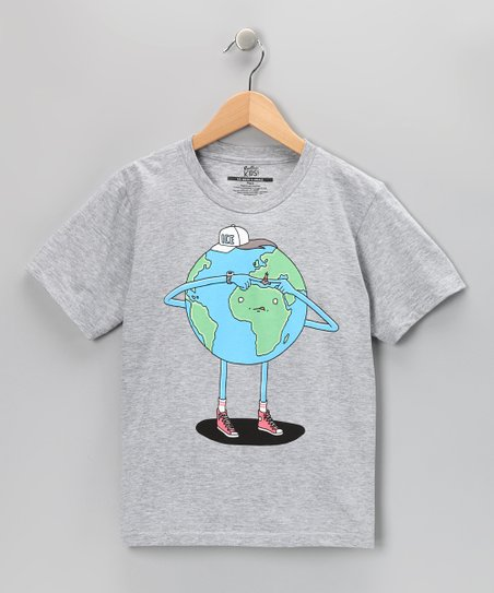 Heather Gray Pop It Tee - Kids