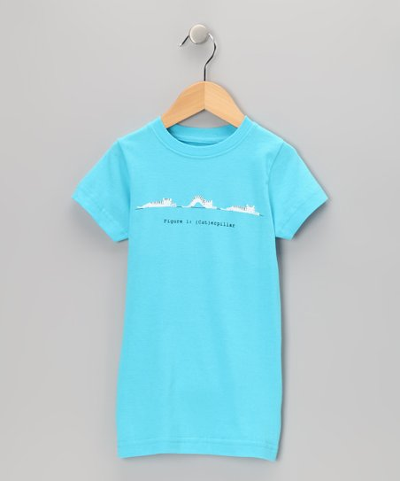 Pool Blue '(Cat)erpillar' Tee - Girls