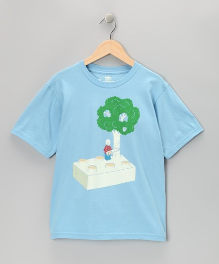 Light Blue Construct and Destroy Tee - Boys