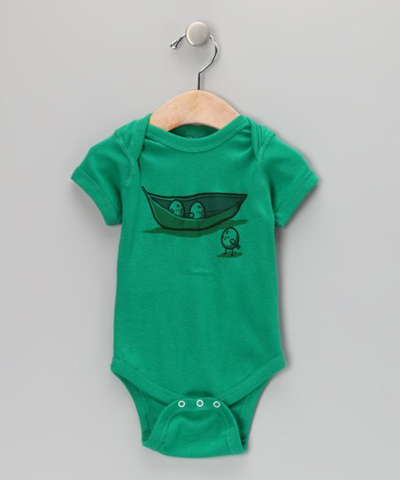 Dark Kelly Chick Peas Bodysuit - Infant