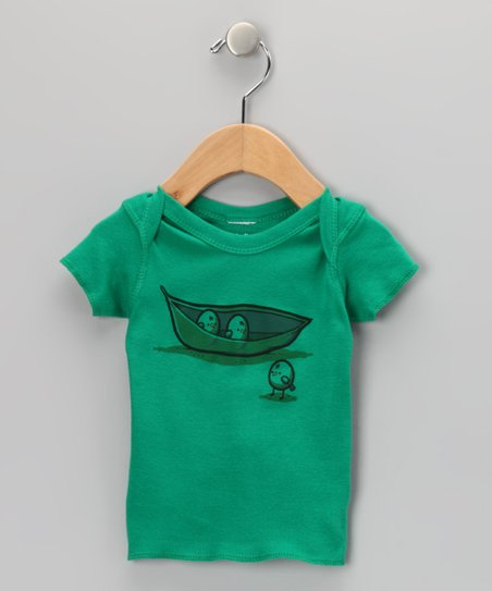 Dark Kelly Chick Peas Tee - Infant