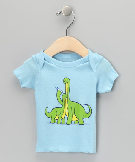 Baby Blue Dinosaur Growth Chart Tee - Infant