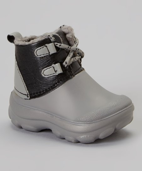 Gray Fleece Boot