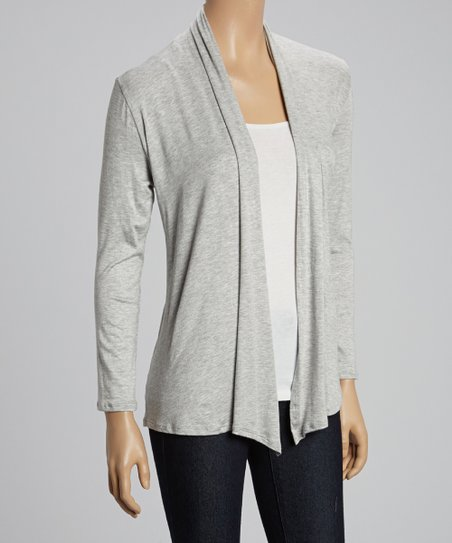 Gray & Charcoal Open Cardigan