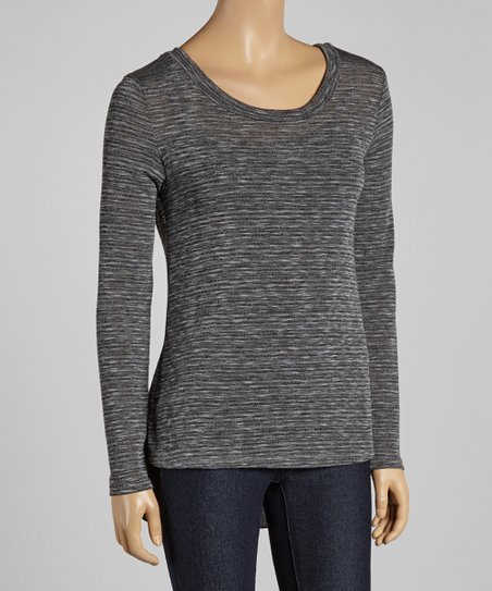 Charcoal Layered Top
