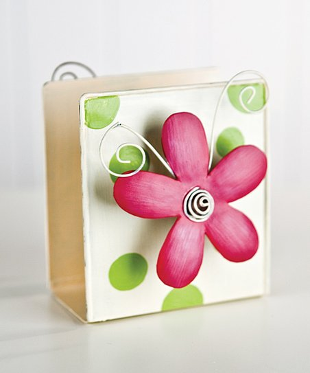 Pink Flower Napkin Holder