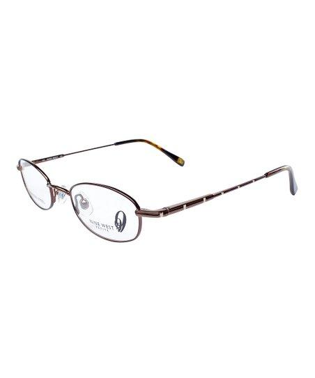 Dark Brown Embellished Glasses