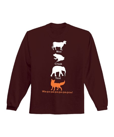 Dark Brown 'Moo Croak Toot Wa-Pa-Pa' Tee - Men