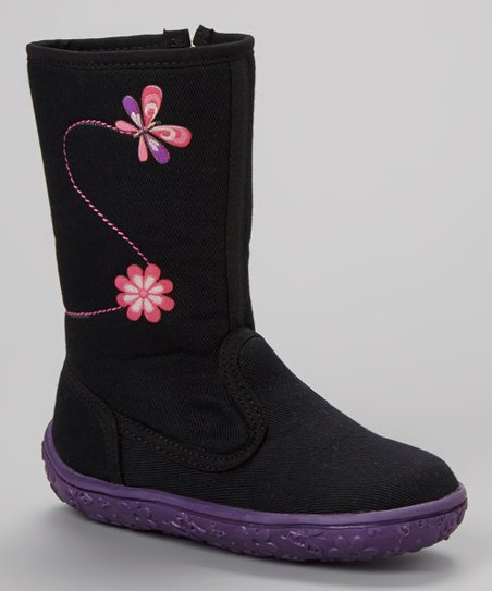 Black Butterfly Petunia Boot