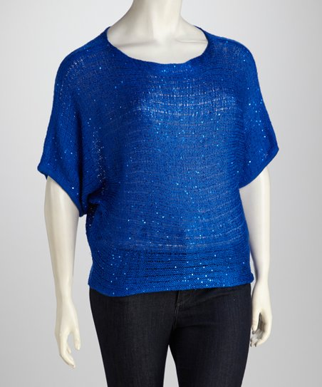Royal Sparkle Plus-Size Top