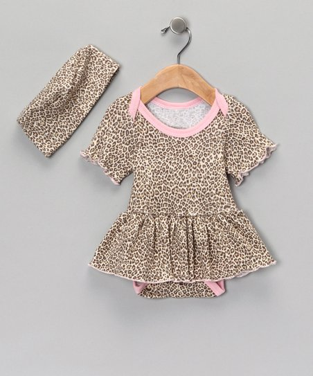Cheetah Chic Skirt Bodysuit & Beanie - Infant