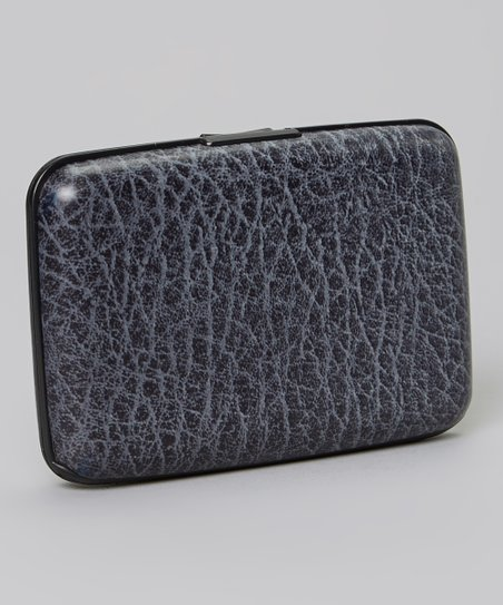 Gray Faux Leather Armored Wallet