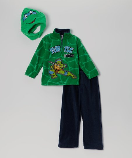 Green 'Teenage Mutant Ninja Turtles' Caped Tee & Mask - Toddler