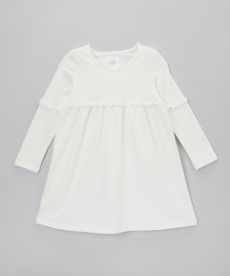 Cream Empire-Waist Dress - Toddler & Girls