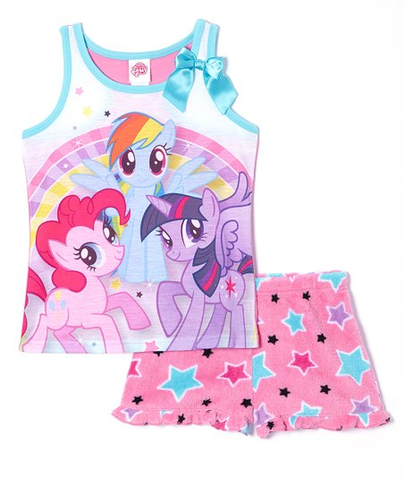 Pink Stars My Little Pony Pajama Set - Girls