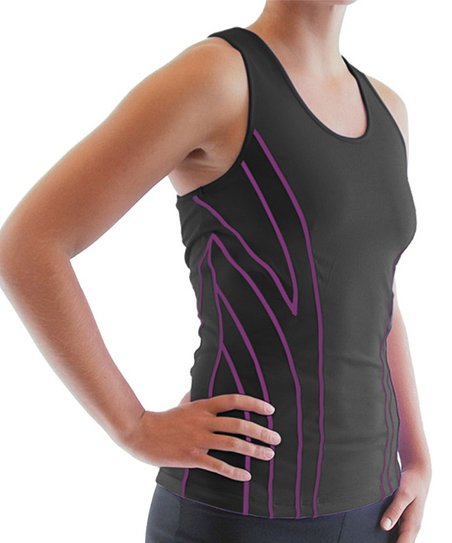 Black Hypnotic Racerback Tank - Women &amp; Plus