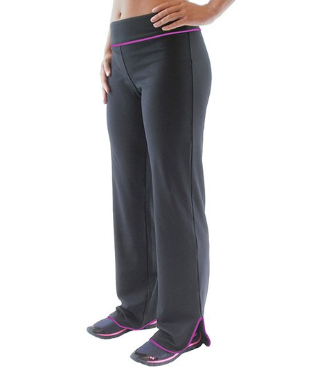 Black & Sugar Plum Reflect Relaxed Fit Pants - Women & Plus