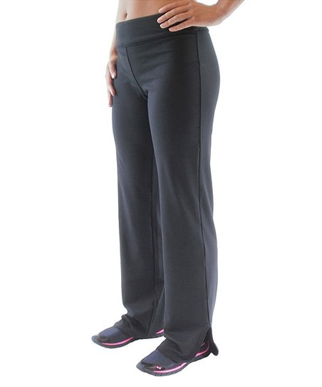 Black Reflect Relaxed Fit Pants - Women & Plus