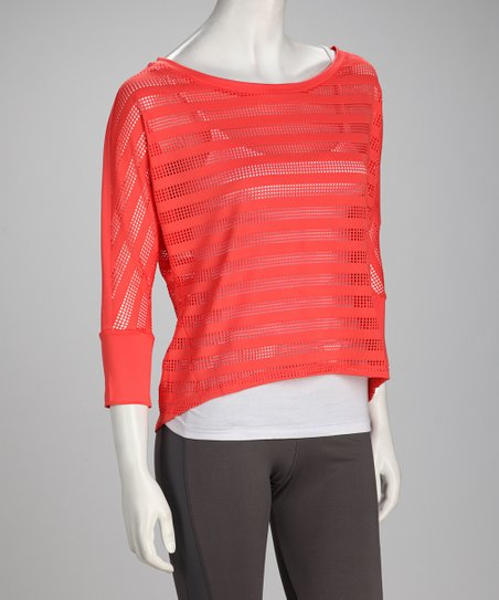 Coral Rose Stripe Flow Dolman Top - Women & Plus