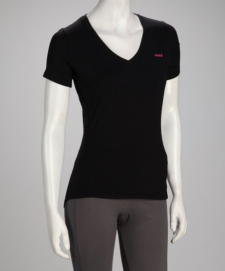 Black Fit Short-Sleeve Tee - Women &amp; Plus