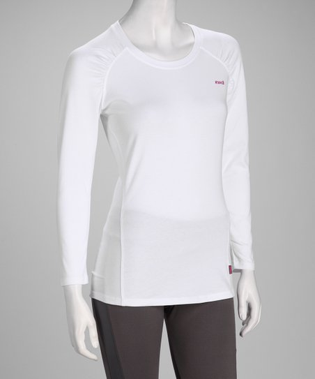 White Fit Long-Sleeve Tee - Women & Plus