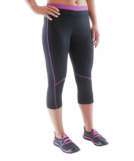 Black & Sugar Plum Advantage Capri Pants - Women & Plus