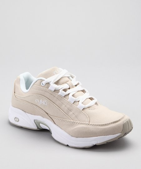 Beige &amp; White Catalyst Plus III LO Walking Shoe