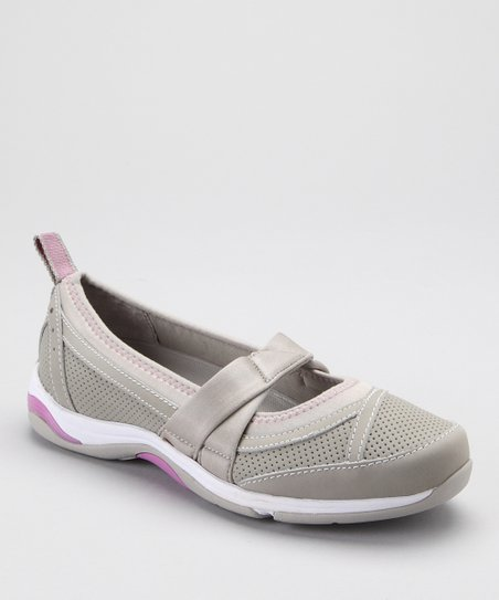 Gray & Pink Tensil Skimmer Twist Slip-On Shoe