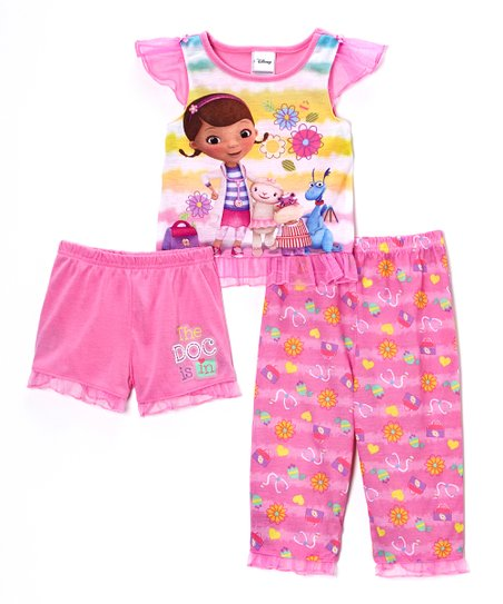 Pink & Yellow Doc McStuffins Pajama Set - Toddler