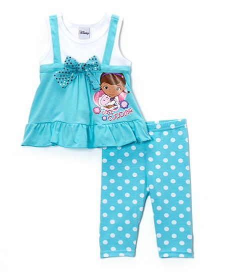 Aqua & Turquoise 'Best Cuddler' Ruffle Tunic & Leggings - Toddler