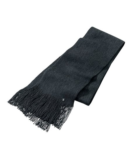 Heather Charcoal Longview Wool Scarf - Women