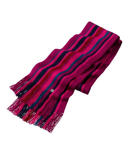 Dark Berry Longview Wool Scarf - Women