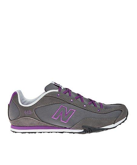 Gray & Purple 442 Sneaker - Women