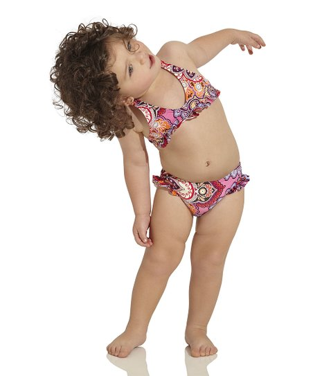 Pink & Red Arabian Soul Bikini - Infant