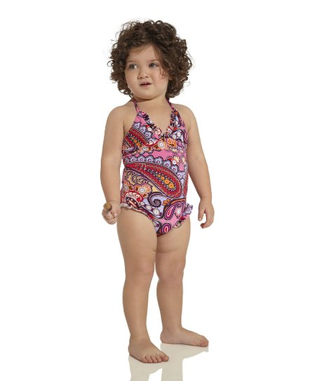 Pink & Red Arabian One-Piece - Infant