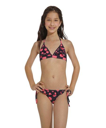 Pink & Black Chicaboom Bikini - Toddler & Girls