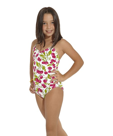 Red & Green Rio One-Piece - Toddler & Girls