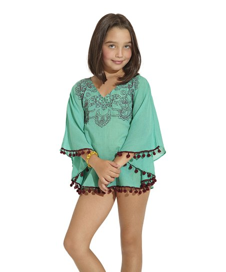 Green Java Cover-Up – Toddler & Girls