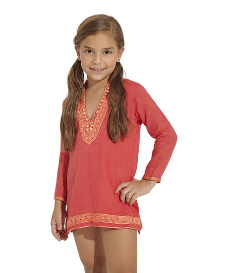 Salmon Arabian Soul Cover-Up - Toddler & Girls