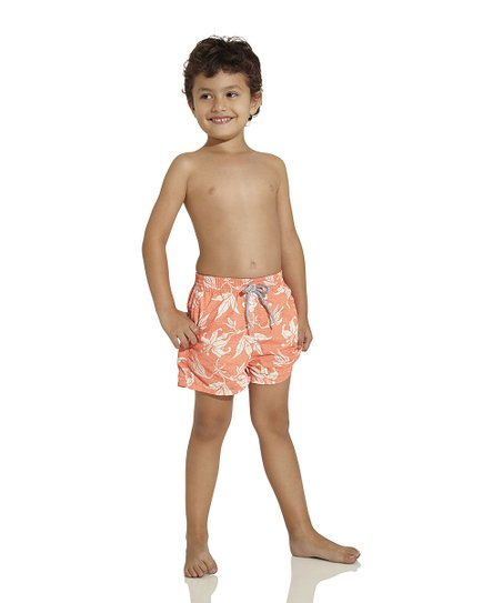 Peach Nomad Soul Nicky Swim Trunks - Toddler & Boys