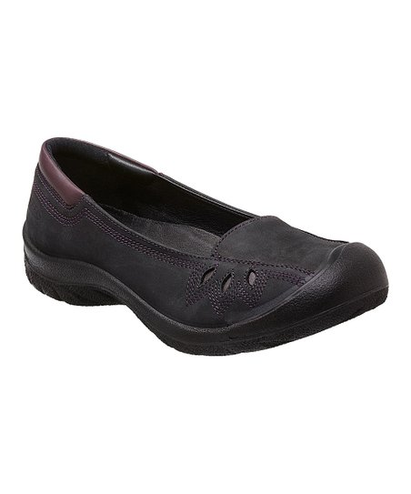 Black Barika Leather Slip-On Shoe - Women