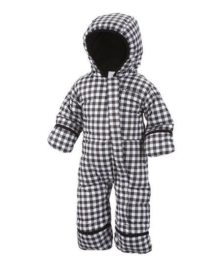 Black Gingham Snuggly Bunny Bunting - Infant