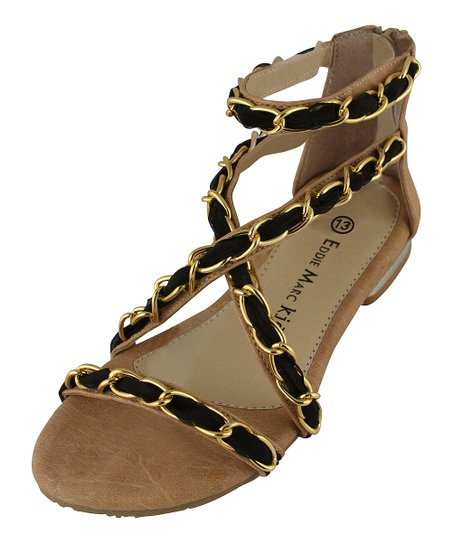 Black Chain Gladiator Sandal