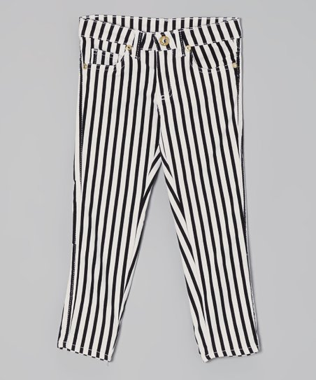 Black & White Stripe Pants - Toddler & Girls