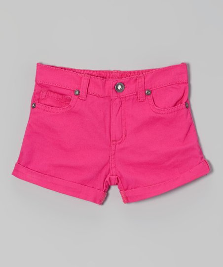 Hot Pink Cuffed Shorts - Toddler & Girls