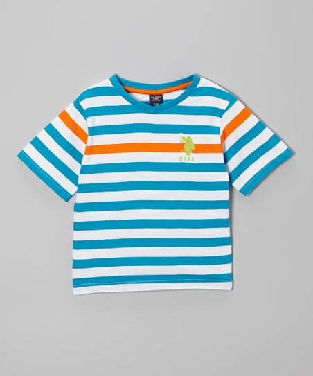 Blue & Green Stripe Tee - Toddler & Boys