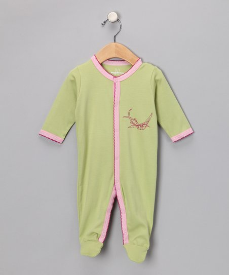 Green Birds Footie - Infant