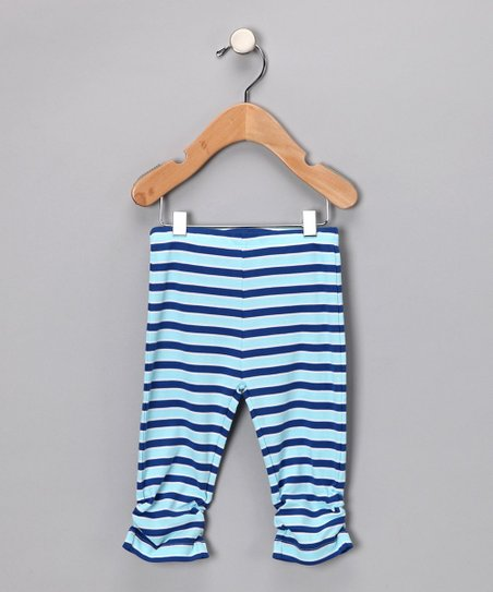Blue Stripe Leggings - Infant & Toddler
