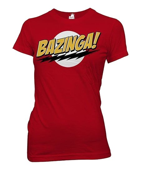 Red 'Bazinga!' Fitted Tee - Women
