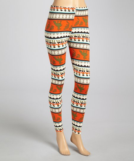 Olive & Orange Tapestry Leggings